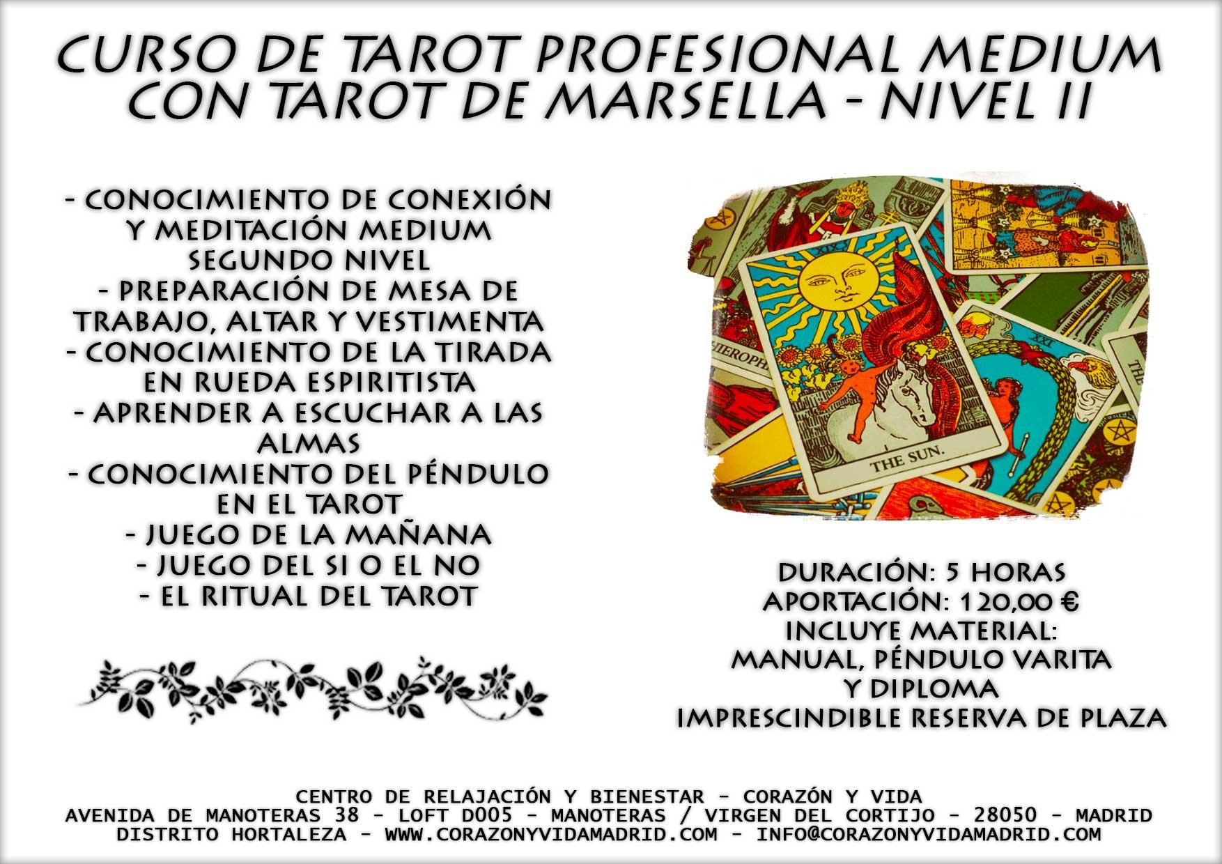 Curso cartas del tarot coraz n y vida relajaci n y for Curso de escaparatismo madrid